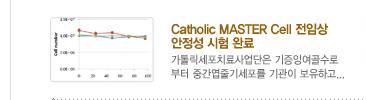 [가톨릭세포치료사업단 소식] 1. Catholic MASTER Cell 전임상             안정성 시험 완료 / 자세히보기